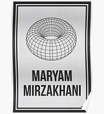MARYAM MIRZAKHANI - Frauen in der Wissenschaft Poster