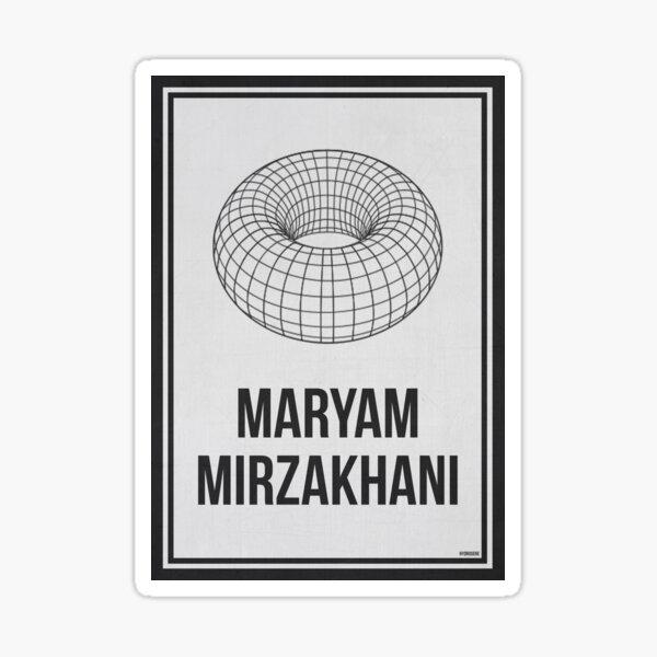 MARYAM MIRZAKHANI - Women In Science Sticker