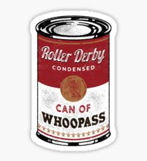 Roller Derby Can Of Whoopass Sticker