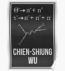 CHIEN-SHIUNG WU - Frauen in der Wissenschaft Poster
