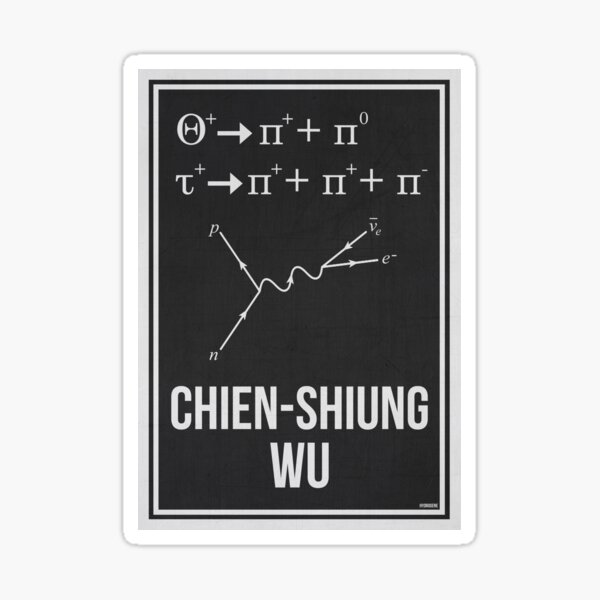 CHIEN-SHIUNG WU - Women In Science Sticker