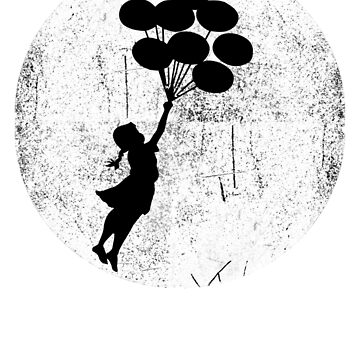 Banksy Baloon Girl Graffiti by belugastore