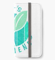 Planet Friend Logo Tshirt Eco Friendly iPhone Wallet/Case/Skin