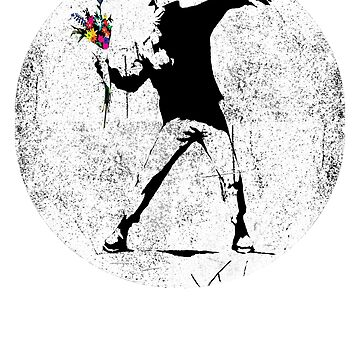 Banksy Men Throwing Flowers Street Art by belugastore