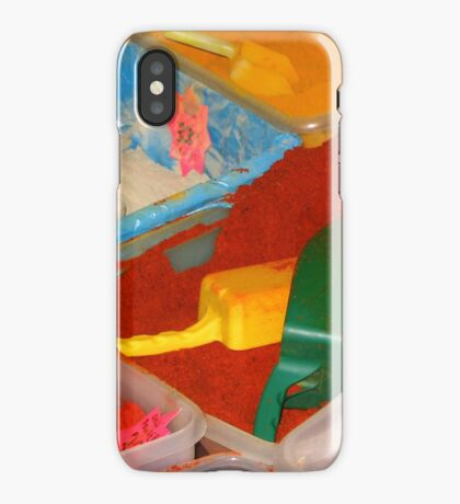 Vibrant coloured spices on the Leeds Kirkgate market iPhone Case/Skin