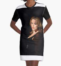 Piercing Eyes Graphic T-Shirt Dress