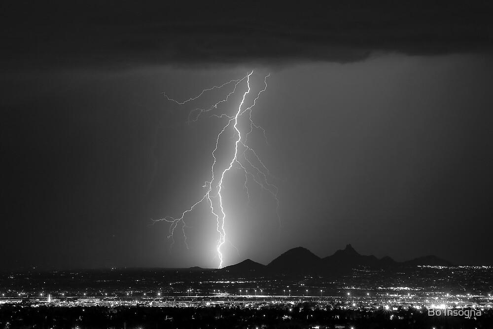 North Scottsdale Ligtning Strike BW by Bo Insogna
