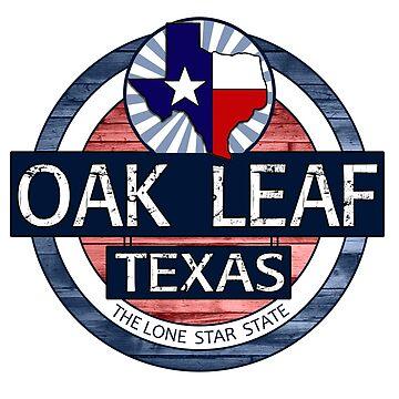 Oak Leaf Texas rustic wood circle by artisticattitud