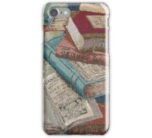Escape With A Book Vintage Books iPhone Case/Skin