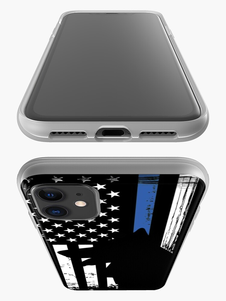 Alternate view of Thin Blue Line Flag K9 German Shepherd Police Dog iPhone Case & Cover