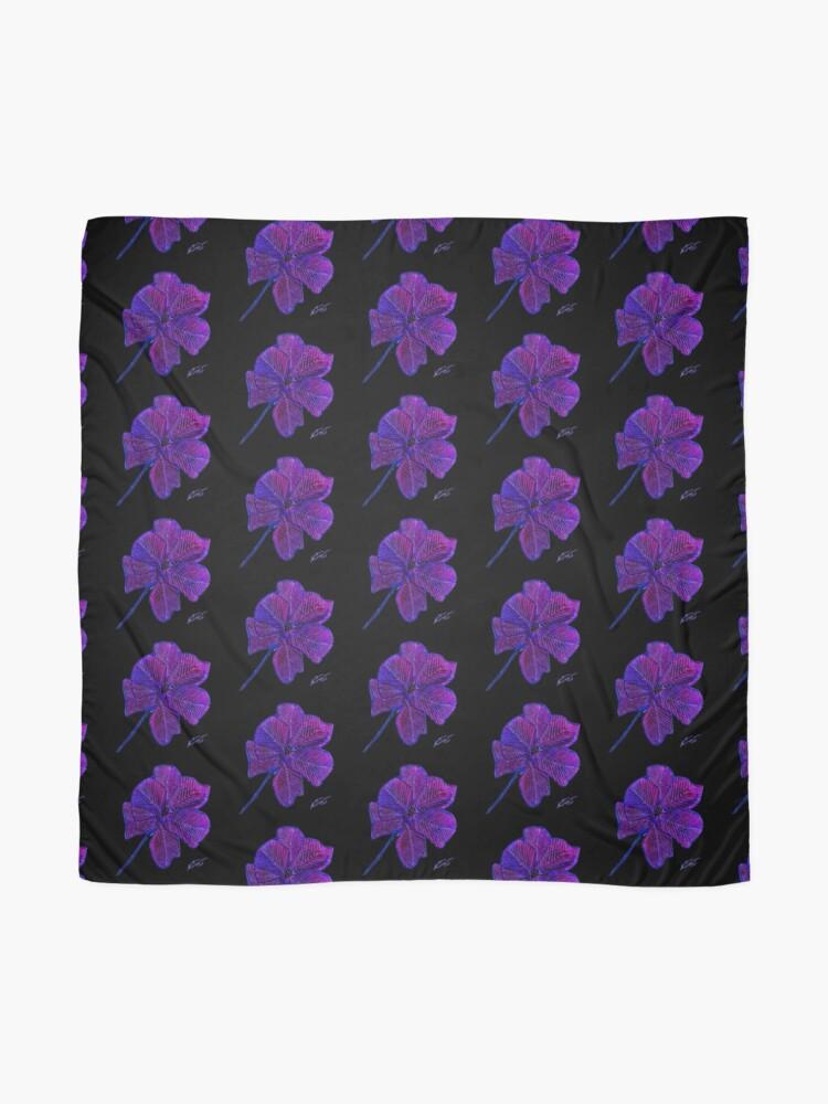 Alternate view of Purple Flower Scarf