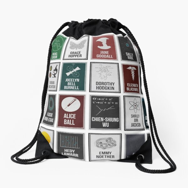 24 Women Who Changed Science. And The World. Drawstring Bag