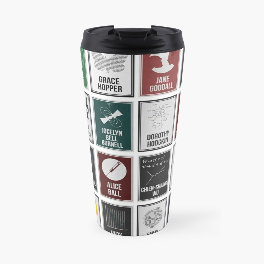 24 Women Who Changed Science. And The World. Travel Mug