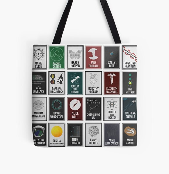 24 Women Who Changed Science. And The World. All Over Print Tote Bag