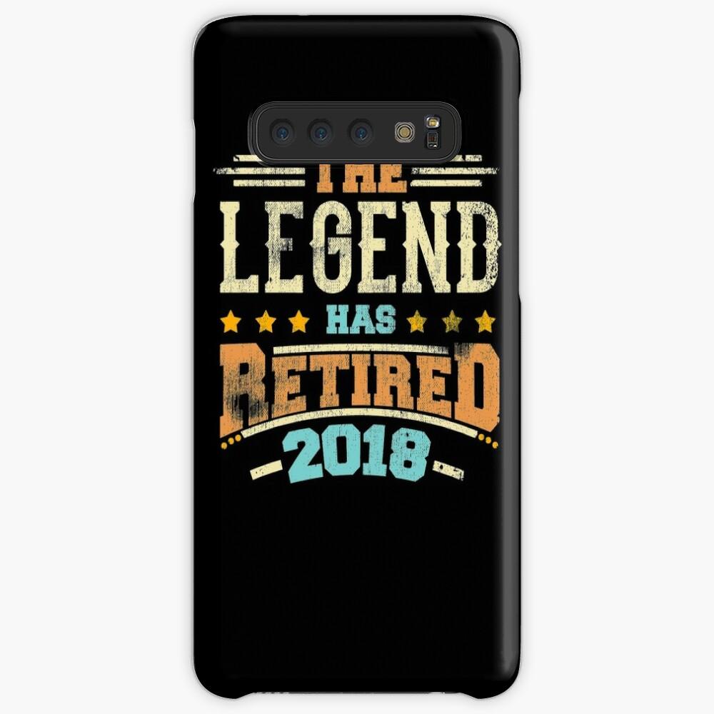 Legende hat Pensionierungsparty-Vati 2018 pensioniert Hülle & Klebefolie für Samsung Galaxy