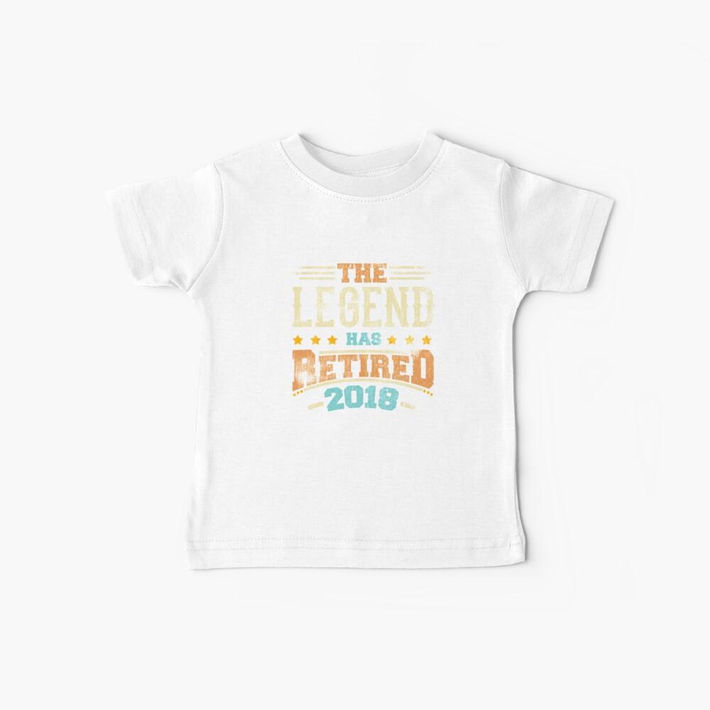 Legende hat Pensionierungsparty-Vati 2018 pensioniert Baby T-Shirt