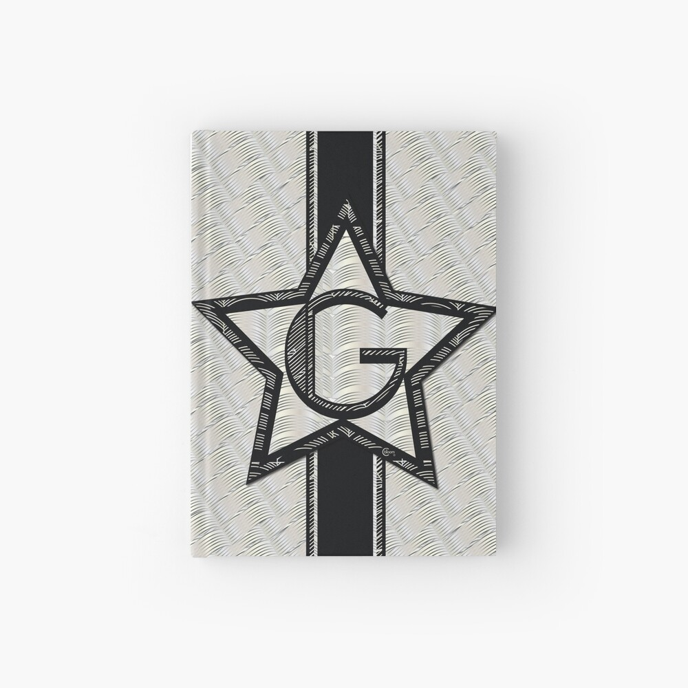 STAR of the SHOW art deco style letter G Hardcover Journal