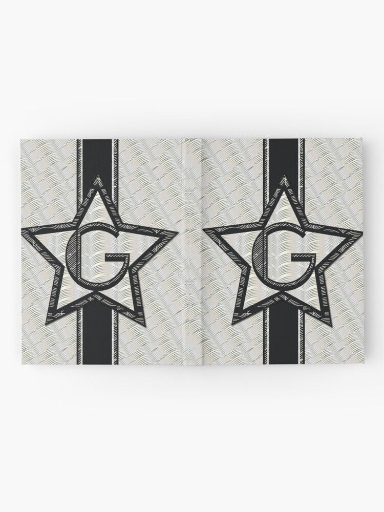 Alternate view of STAR of the SHOW art deco style letter G Hardcover Journal