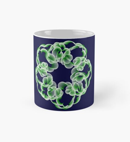 Spirals with Green and White Mug