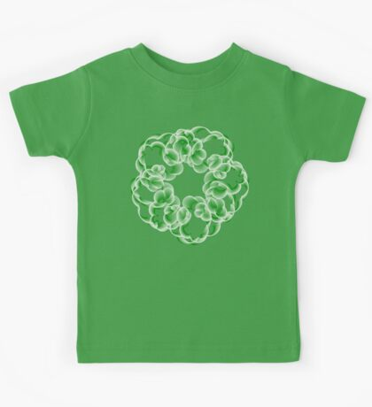 Spirals with Green and White Kids Clothes