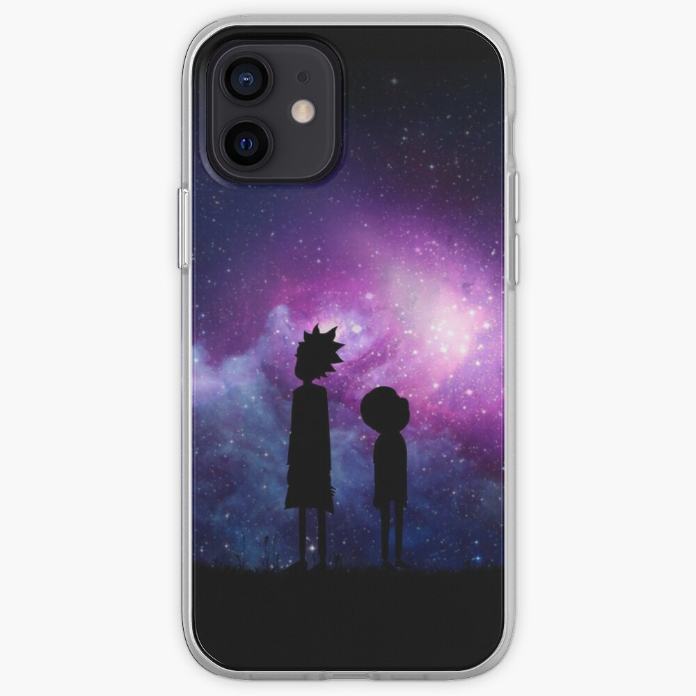Minimalist Rick and Morty Space Design iPhone Case & Cover