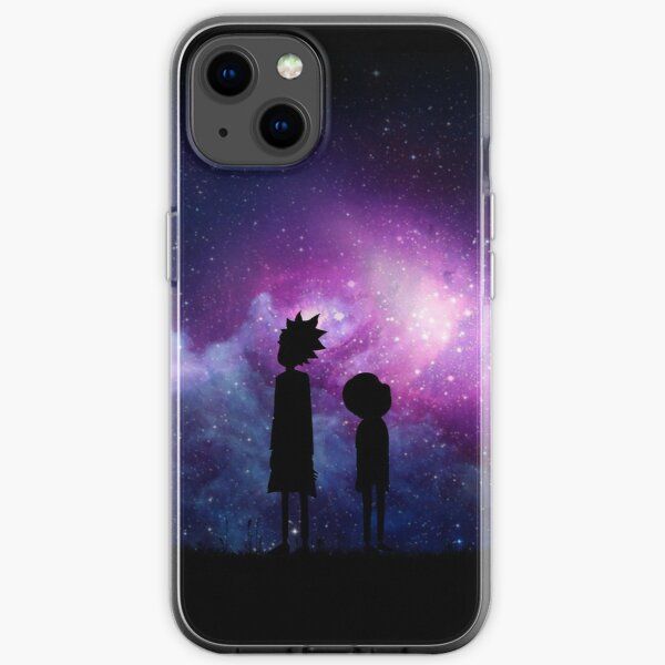 Minimalist Rick and Morty Space Design iPhone Soft Case