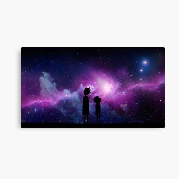 Minimalist Rick and Morty Space Design Canvas Print