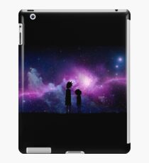 Minimalist Rick and Morty Space Design iPad Case/Skin