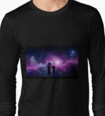 Minimalist Rick and Morty Space Design Long Sleeve T-Shirt