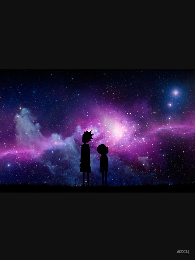 Minimalist Rick and Morty Space Design by azcy