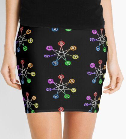 Heptagram Mini Skirt