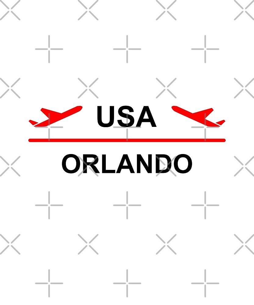 Orlando USA Airport Plane Light-Color by TinyStarAmerica