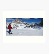 Winter snowshoeing Art Print
