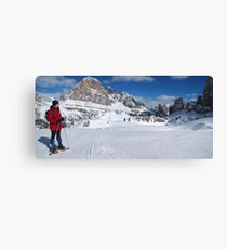 Winter snowshoeing Canvas Print