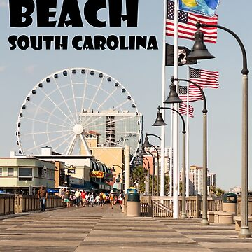 Myrtle Beach South Carolina Boardwalk Vacation High Resolution Photograph Professional  by FancyFrocks