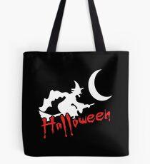 Halloween Hexe auf Besen Tasche