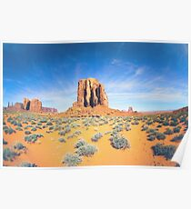 Monument Valley in Summer Poster