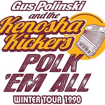 Gus Polinski Tour shirts Round Two! by BrainSmash