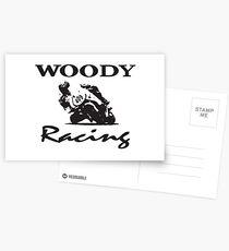 Woody Racing Postcards