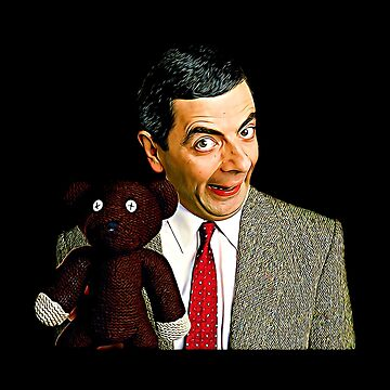 Mr. Bean and Teddy Art by biggeek