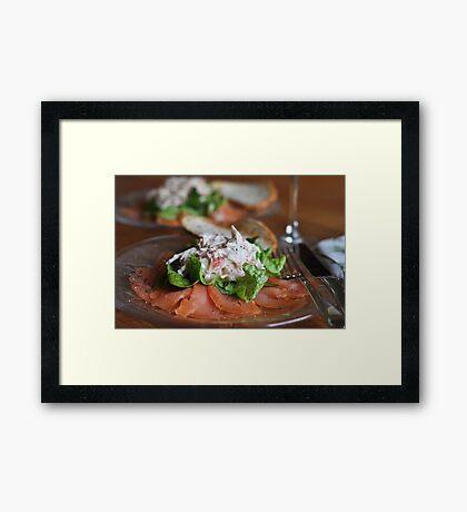 Smoked Salmon and Crab Salad Framed Print