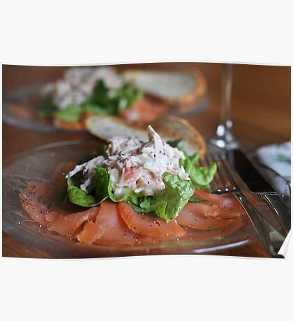 Smoked Salmon and Crab Salad Poster