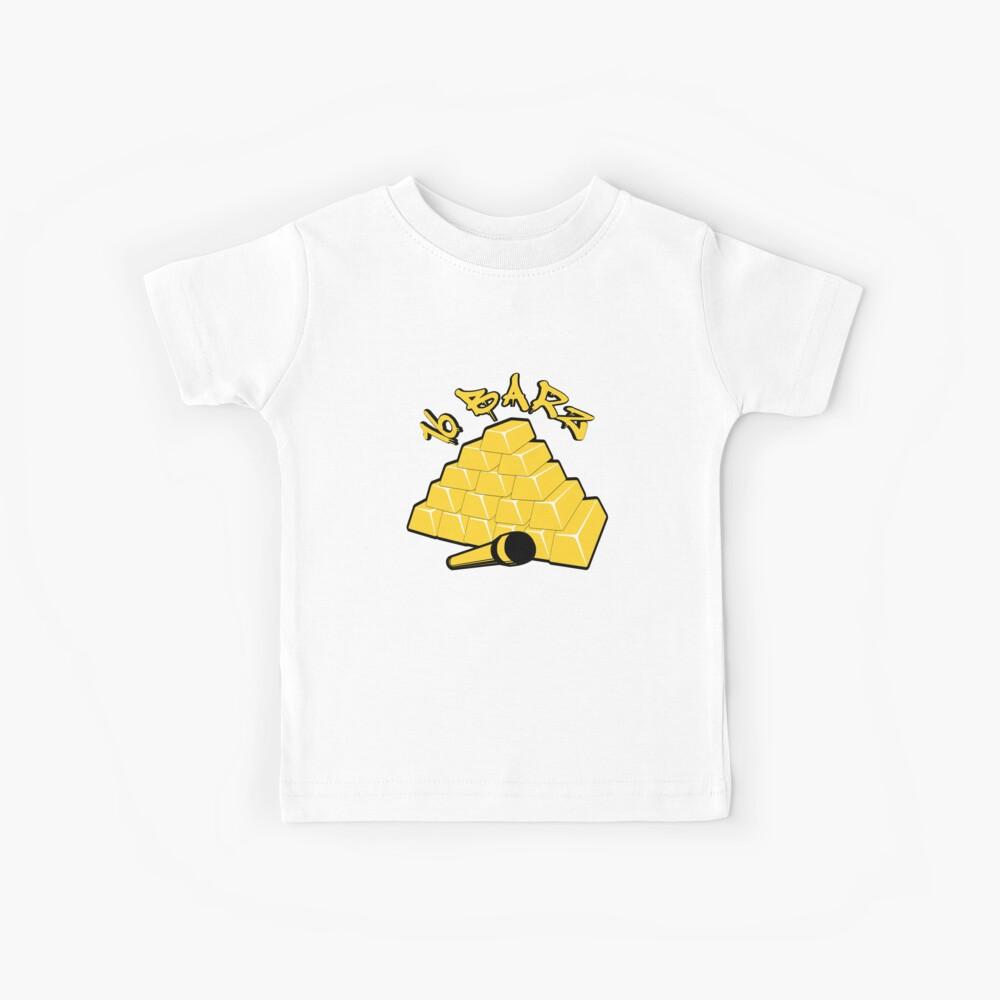16 Barz Goldbarren Rap Design Kinder T-Shirt
