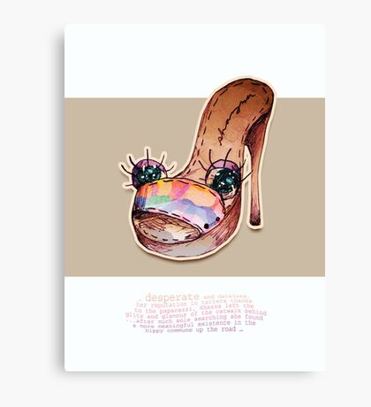 Little Profiles Sole Searching Canvas Print