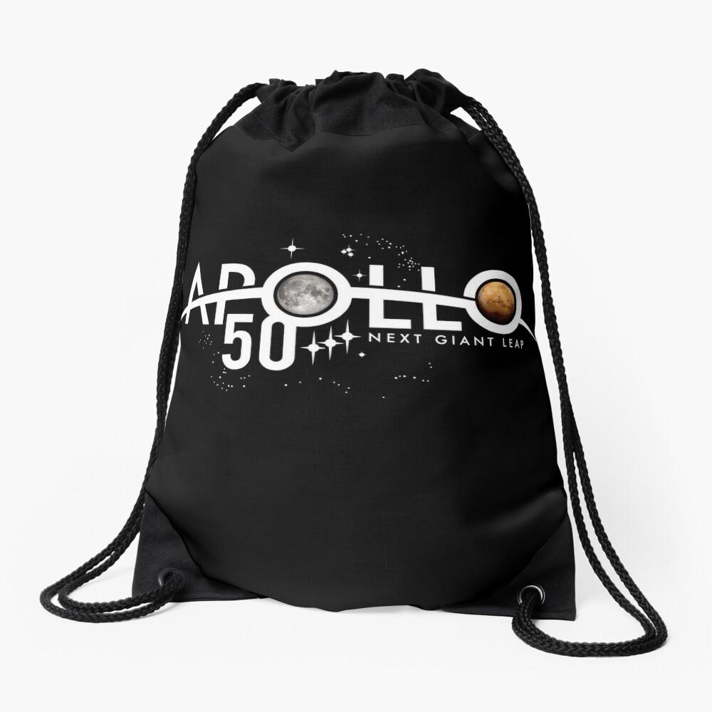 Apollo 50th Anniversary Logo - Nächster Riesensprung - Zuerst der Mond, nächster Mars! Turnbeutel