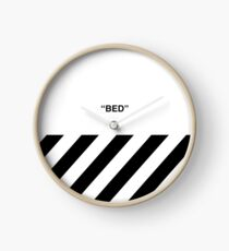 OFF-WHITE BED Clock