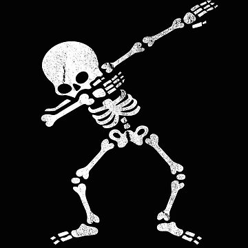Funny Dabbing Skeleton Shirt in vintage Halloween design as a gift idea by MrTStyle