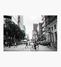 Stereoscopic San Francisco People Photographic Print