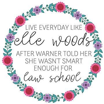 Vive todos los días como Elle Woods, flores rosadas y púrpuras de annmariestowe