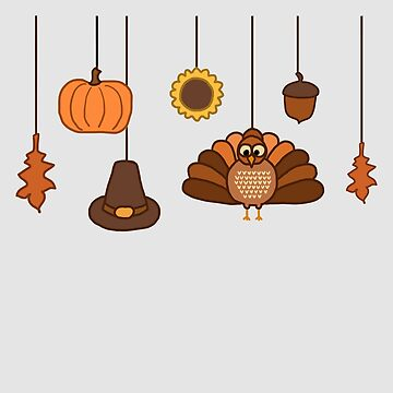 Thanksgiving Ornaments by WordvineMedia
